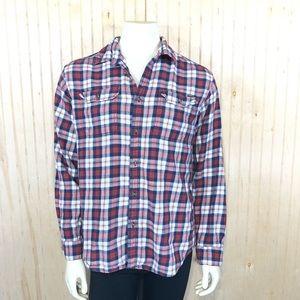 Eddie Bauer Men Large Classic Fit Flannel Shirt